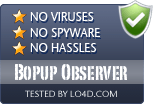 Bopup Observer is free of viruses and malware.