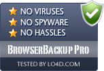 BrowserBackup Pro is free of viruses and malware.