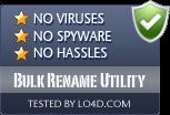 Bulk Rename Utility is free of viruses and malware.