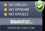 BurnInTest Professional is free of viruses and malware.