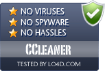CCleaner is free of viruses and malware.