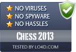 Chess 2013 is free of viruses and malware.