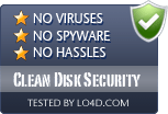 Clean Disk Security is free of viruses and malware.