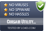 Corsair Utility Engine is free of viruses and malware.