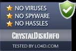 CrystalDiskInfo is free of viruses and malware.