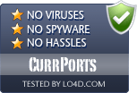 CurrPorts is free of viruses and malware.