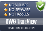 DWG TrueView is free of viruses and malware.