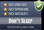 Don't Sleep is free of viruses and malware.