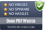 Doro PDF Writer is free of viruses and malware.