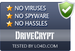 DriveCrypt is free of viruses and malware.