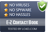 E-Z Contact Book is free of viruses and malware.