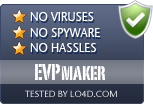 EVPmaker is free of viruses and malware.