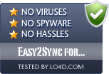 Easy2Sync for Outlook is free of viruses and malware.