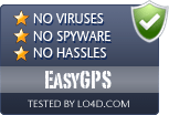 EasyGPS is free of viruses and malware.