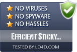 Efficient Sticky Notes is free of viruses and malware.