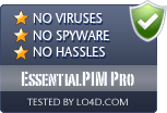 EssentialPIM Pro is free of viruses and malware.