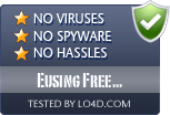 Eusing Free Registry Cleaner is free of viruses and malware.