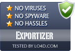 Exportizer is free of viruses and malware.