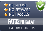 FAT32format is free of viruses and malware.