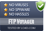 FTP Voyager is free of viruses and malware.