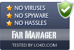 Far Manager is free of viruses and malware.