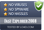 Fast Explorer 2008 is free of viruses and malware.