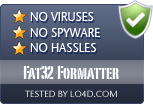Fat32 Formatter is free of viruses and malware.