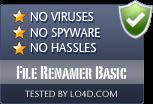 File Renamer Basic is free of viruses and malware.