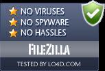 FileZilla is free of viruses and malware.