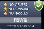 FixWin is free of viruses and malware.