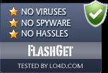 FlashGet is free of viruses and malware.