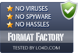 Format Factory is free of viruses and malware.