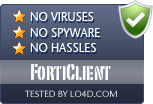 FortiClient is free of viruses and malware.