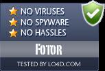 Fotor is free of viruses and malware.