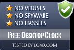 Free Desktop Clock is free of viruses and malware.