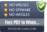 Free PDF to Word Doc Converter is free of viruses and malware.