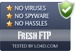 Fresh FTP is free of viruses and malware.