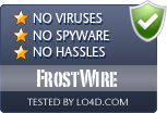 FrostWire is free of viruses and malware.