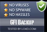 GFI Backup is free of viruses and malware.