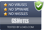 GSNotes is free of viruses and malware.