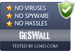 GeSWall is free of viruses and malware.
