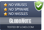 GloboNote is free of viruses and malware.