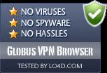 Globus VPN Browser is free of viruses and malware.