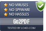 Go2PDF is free of viruses and malware.