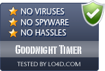 Goodnight Timer is free of viruses and malware.