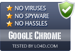 Google Chrome is free of viruses and malware.