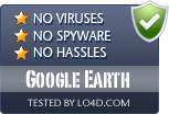 Google Earth is free of viruses and malware.