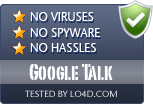 Google Talk is free of viruses and malware.