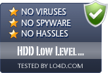 HDD Low Level Format Tool is free of viruses and malware.