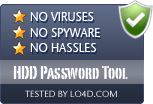 HDD Password Tool is free of viruses and malware.